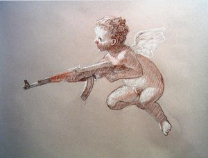 b2efe-the_cupid_with_a_gun_drawing_by_valkea